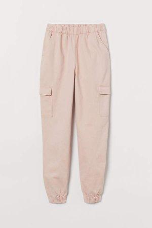 Twill Cargo Pants - Pink