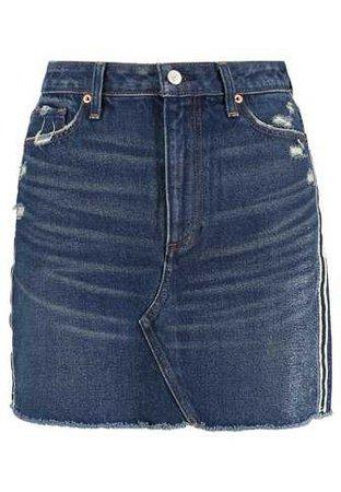Abercrombie & Fitch RINSE - Denim skirt - dark blue denim - Zalando.co.uk