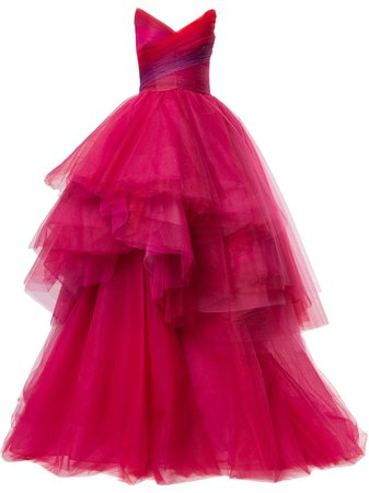 Monique Lhuillier Layered Tulle Ball Gown - Farfetch