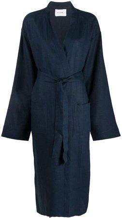 Long Sleeve Belted Coat