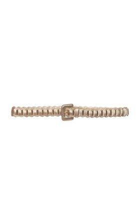 Prada Woven Leather Belt Size: 85 cm