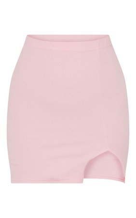 Dusky Pink Split Mini Skirt | Skirts | PrettyLittleThing USA