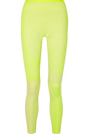Nike | Tech Pack 2.0 neon mesh-paneled stretch leggings | NET-A-PORTER.COM