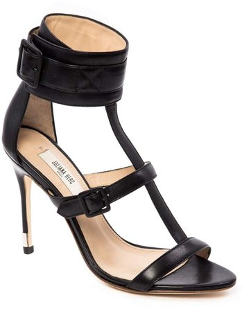 Juliana Herc Black Sandal With Strap & Buckle