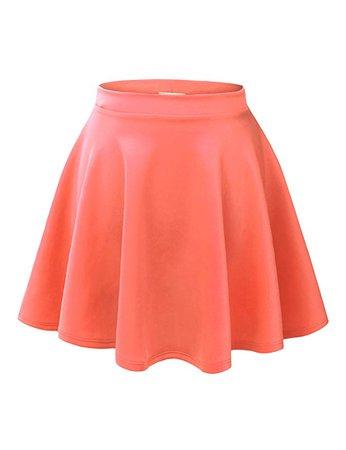 Coral Orange Skater Skirt