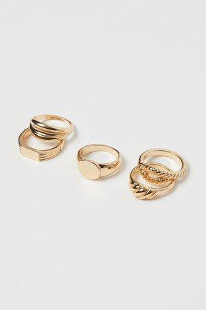 5-pack Rings - Gold