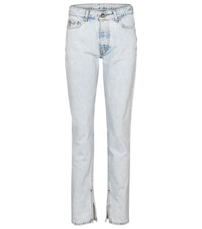 Ganni - High-rise slim jeans   Mytheresa
