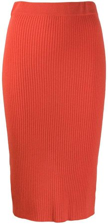 Cashmere In Love ribbed pencil skirt