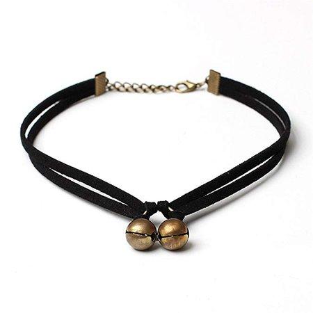 Amazon.com: TIDOO Jewelry Classic Black Velvet Bell Choker Necklace: Jewelry