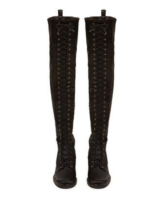 Casati pearl-heeled stretch-satin boots | Nicholas Kirkwood | MATCHESFASHION.COM