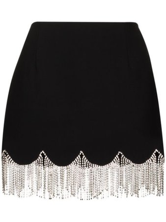 AREA crystal-embellished Scalloped Mini Skirt - Farfetch