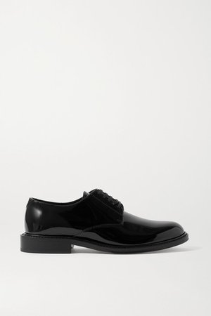 Cromel Patent-leather Brogues - Black