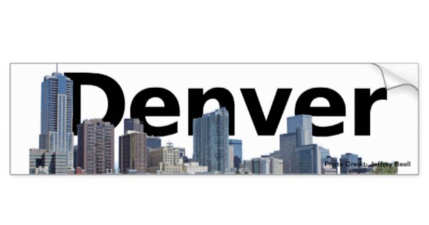 Denver Bumper Sticker by Quarter-Turn-Past-Wicked