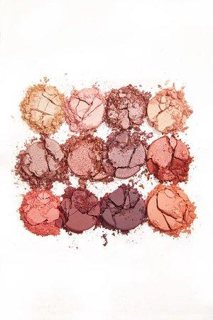 crushed eyeshadow : gold, rose gold, pink, purple, orange