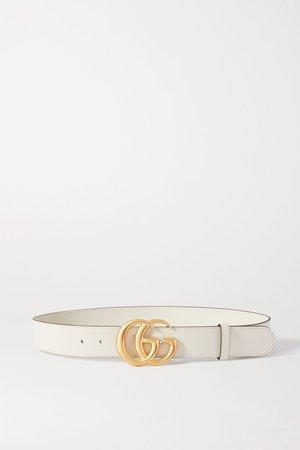 White Leather belt | Gucci | NET-A-PORTER