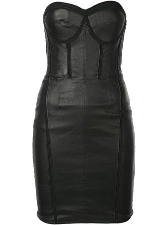 Black RtA Gwenyth Strapless Corset Dress | Farfetch.com