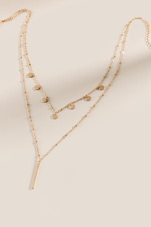 Jamila Coin Layered Necklace | francesca's