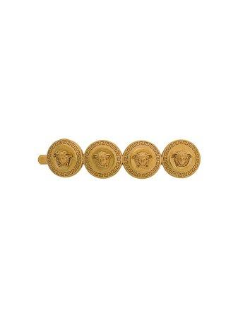 Versace Medusa Coin Brooch - Farfetch