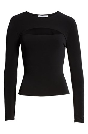 Leith Cutout Top Black