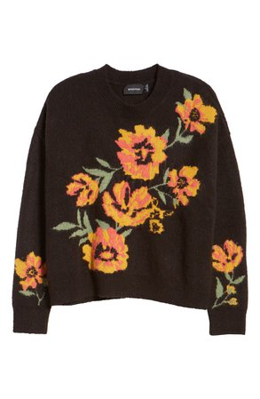 MINKPINK Floral Crewneck Sweater