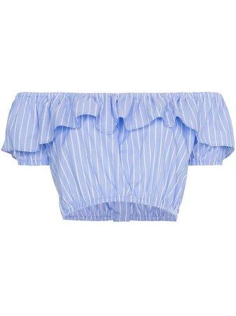 Miu Miu Off-shoulder Strap Cropped Top | Farfetch.com