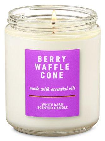 Berry Waffle Cone Single Wick Candle | Bath & Body Works