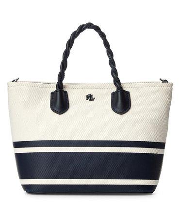 Lauren Ralph Lauren Hutton Striped Canvas Small Tote & Reviews - Handbags & Accessories - Macy's