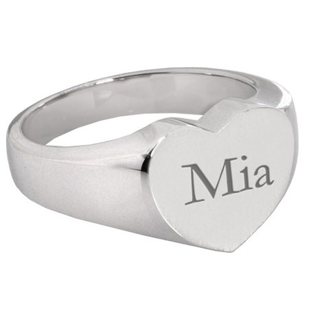 Sliver Name Mia Ring
