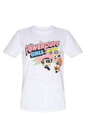 White Powerpuff Girls Printed T Shirt | PrettyLittleThing
