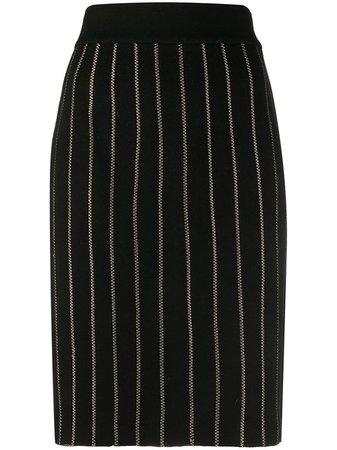 Fendi Pre-Owned 2000s Pinstripe Pencil Skirt - Farfetch