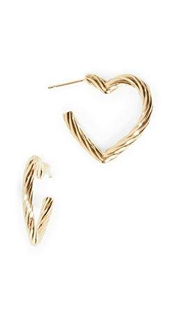 Loeffler Randall Billie Large Twisted Heart Earrings | SHOPBOP