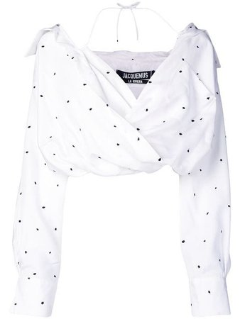 Jacquemus Cropped Polka Dot Blouse - Farfetch