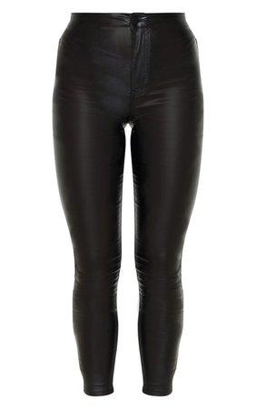 Coated Black Skinny Jeans | Denim | PrettyLittleThing USA