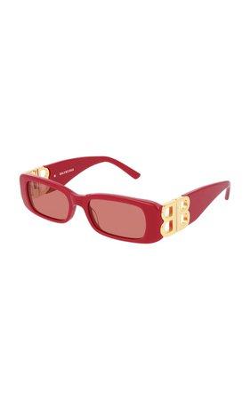 BALENCIAGA Dynasty Square-Frame Acetate Sunglasses by Balenciaga | Moda Operandi