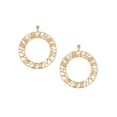 Logo Circle Earings Gold