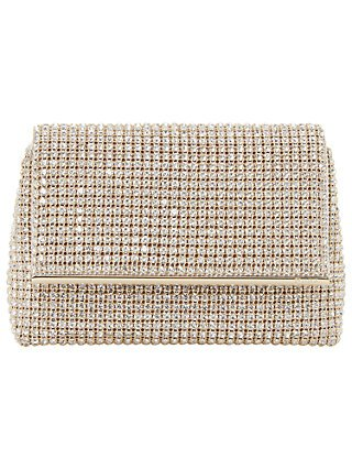 Dune Brights Clutch Bag, Gold Leather at John Lewis & Partners