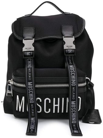 logo straps backpack