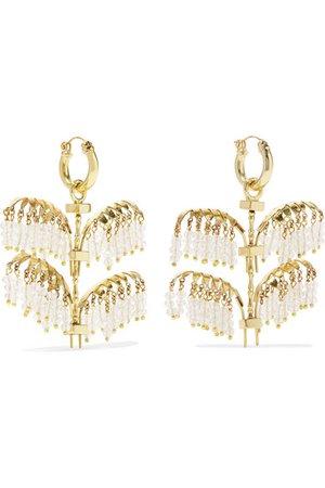 Ellery | Genealogy Mini Palm gold-tone crystal earrings | NET-A-PORTER.COM