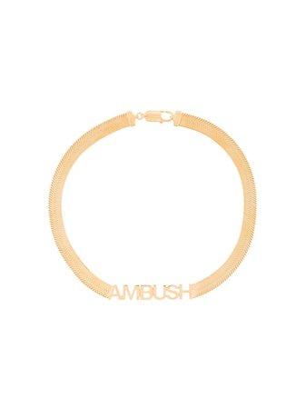 AMBUSH logo choker necklace