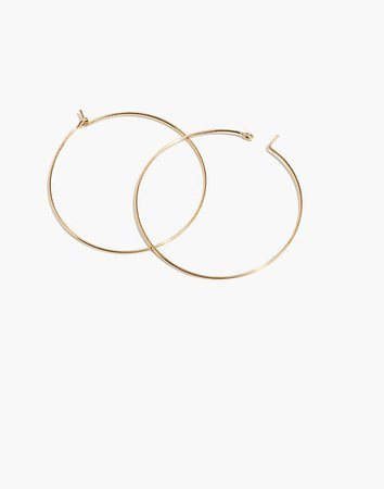 14k Gold-Filled Large Hoop Earrings