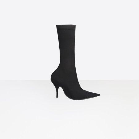Black Knife Booties for Women | Balenciaga