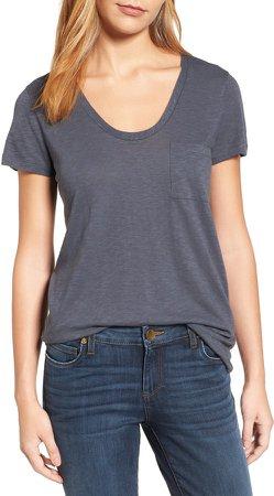Rounded V-Neck T-Shirt