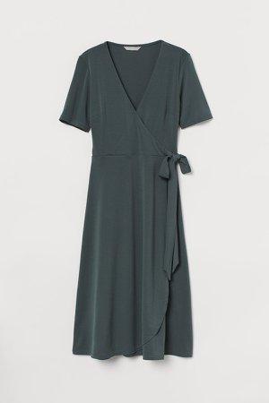 Jersey Wrap Dress - Green