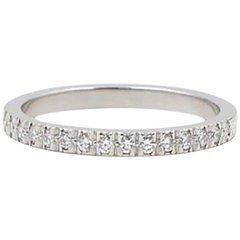 Authentic Tiffany and Co. Novo Platinum Diamond Wedding Band Ring 0.36 Carat For Sale at 1stdibs