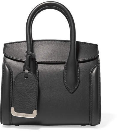 Heroine Small Leather Tote - Black