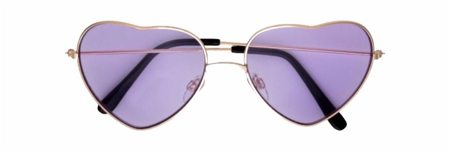 purple tinted sunglasses