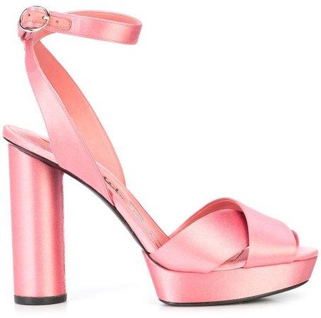 crossover patform sandals