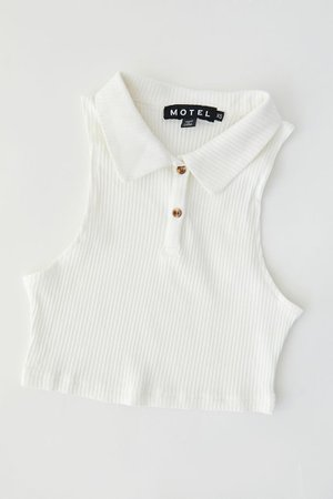 Motel Guaco Polo Cropped Tank Top | Urban Outfitters