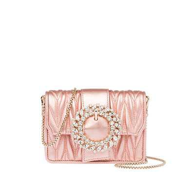 Laminated matelassé leather bag | MiuMiu