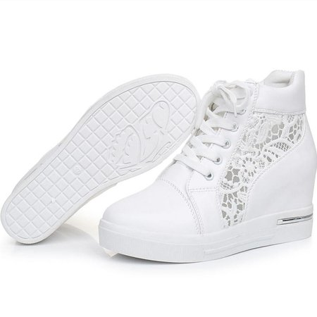 high heel trainers